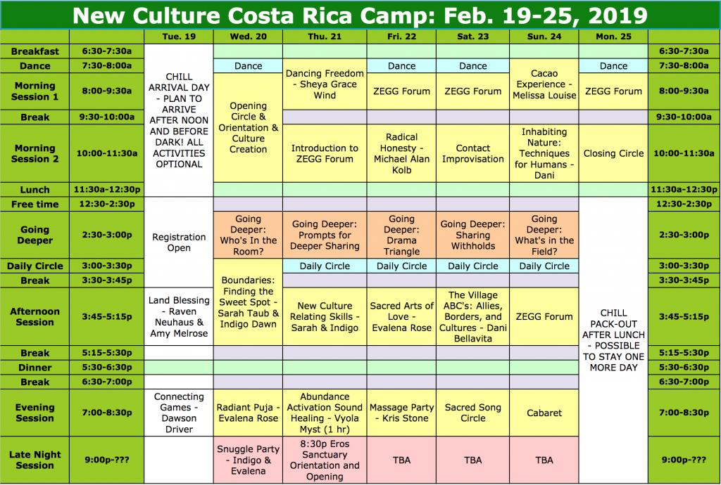 NCCRC '19 Schedule