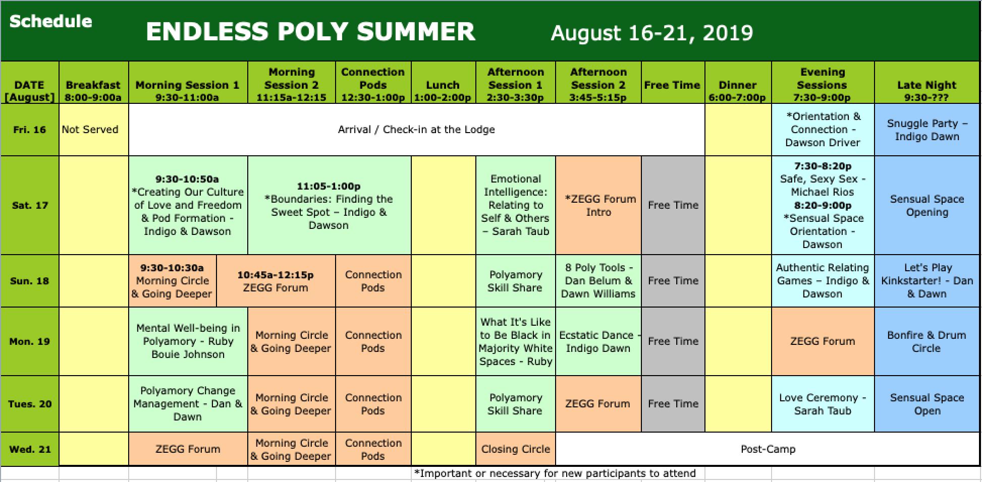 EPS 19 Schedule